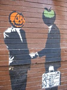 Mr Pumpkin and Mr Apple by Orin Zebest