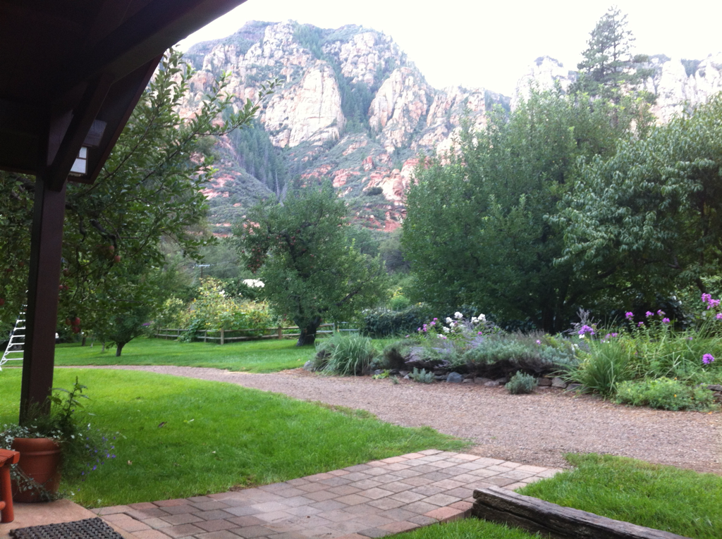 View from our cabin porch