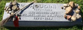 Harry Houdini's gravestone